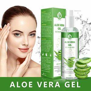 Gel d'Aloe Vera 100%, Gel Hydratant Visage & Corps Cheveux Crème, Aloe Vera Après Soleil, Produit de Soins de la Peau 250ML