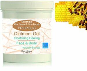 Gel Hydratant de massage à la Propolis 1000 ml – Soin Peaux à problèmes – Baume cicatrisant – Soin après-rasage (apaisant et assainissant) – Gel apaisant piqûres d'insectes