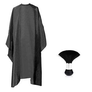 Gojiny Cape de coupe pour cheveux, brosse pour épilation, coiffure, robe de coupe pour barbier, utilisation domestique – 2 accessoires de coupe de cheveux