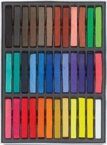 HAIRCHALKIN® 36 non-toxique temporaire des cheveux Pastel Chalk Kit de beauté