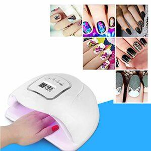 HUANGWZ Nouvelle lampe professionnelle NV/LED, vernis à ongles, gel léger, lampe à ongles à séchage rapide, 4 réglages de minuterie, lampe de maquillage des ongles privée simple et pratique