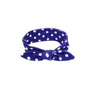 Hxtxb Bandeau Bandeau Bandeau Bandeau Bandeau Bandeau Bandeau Parent-Enfant Imprimer Accessoires pour Cheveux Couvre-Chefs (Color : Royal Blue baby1pc)