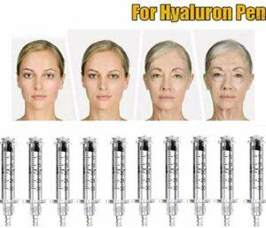 Hyaluronique Stylo Acide D'injection Haute Pression Hyaluron Méso Gun Non Invasif Enlèvement des Rides Eau Ampoule Aiguille Beauté Machine 136Pcs