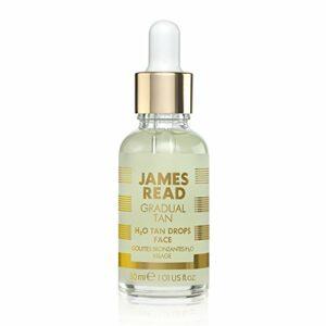 JAMES READ Gradual Gouttes Bronzantes H2O Visage 30 ml, Soins quotidiens de la peau, Pour un teint éclatant naturel, Doté de la technologie TANTONE, Convient à tous les types de peau