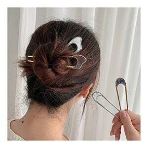 JHGTRFFM Épingle à Cheveux en Forme de U Épile à Cheveux Moderne et Simple en Forme de Coiffure en Forme de U (Color : 4pcs)