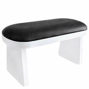 Kalolary Nail Arm Rest, Oreiller de Manucure Résistant à l'usure Table de Coussin Repose-bras en Cuir Microfibre pour Salon de Manucure le Soin Des Mains (Noir)