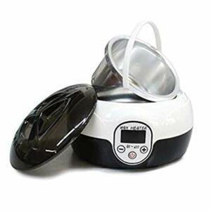 Kit d'épilation électrique pour épilation à la cire du visage, des sourcils, des jambes, des aisselles, à la maison, pour femme, avec 4 sacs de grains de cire dure – Blanc