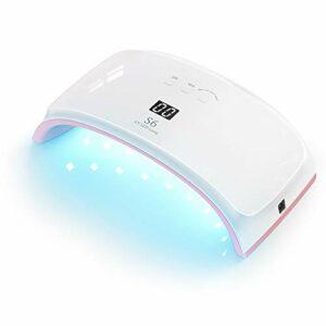 Lampe UV Sèche Ongle – Xpreen 42W Lampe UV Ongles Gel, 3 Minuteries 30s/60s/90s, Durcir le Gel avec 21 Perles de Lumière pour le Nail Art pour Ongles de Doigts et D'orteils