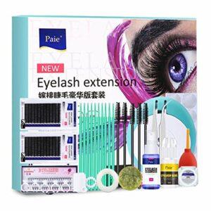 Lfdhcn Ensemble d'outils d'extensions de Cils Curl Colle Maquillage Pratique Cils kit de greffe