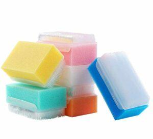 Lot de 12 éponges de bain stériles et brosses sensorielles MELONSUN.