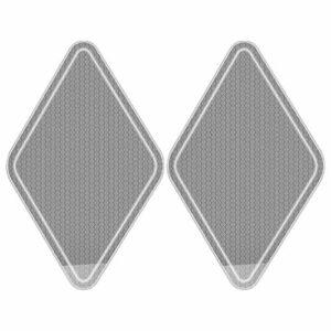 Lurrose 2 Pièces En Verre Pied Fichier Nano Verre Cal Remover Grossier Râpe À Pied Pied Laveur Cuticules Retrait Manucure Outil pour Salon Maison Pédicure Soins Des Pieds Outil Clair
