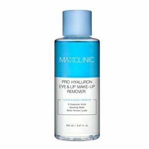 MAXCLINIC Pro Hyaluron Eye&Lip Makeup Remover Démaquillant doux pour les yeux et les lèvres avec liquide 8 types d'acide hyaluronique 160ml / 5,41 fl oz