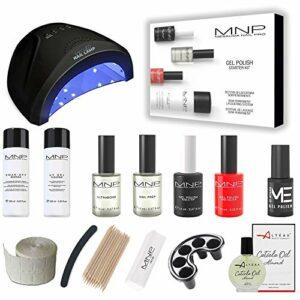 Mesauda Starter kit vernis gel semi-permanent 14 ml + séchoir à ongles Altéax® + accessoires KIT+LAMPADA LED
