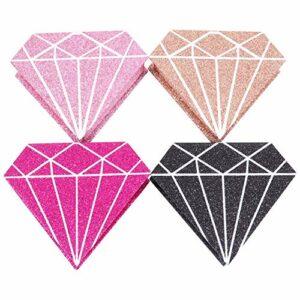 Minkissy 4 Pièces Cils Cas Glitter Brillant En Forme de Diamant Faux Cils Affichage Boîte avec Cils Plateau Faux Cils Fournitures pour Accueil Voyage Boutique