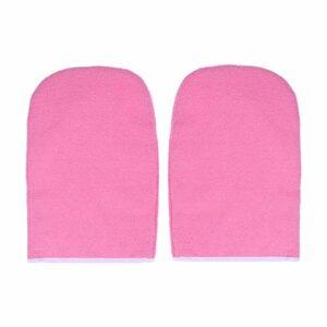 Minkissy Gants de Cire de Paraffine Gants de Bain en Tissu Éponge Soins de Cire Mitaines Isolées Thérapie par La Chaleur Traitement Spa Gant de Bronzage pour Femmes Filles