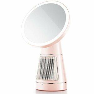 Miroir de Maquillage Maquillage LED Anneau lumineux avec chauffage Miroir 500W d'économie d'énergie 3 niveaux de luminosité Protège les yeux Mit Touch Control for la lecture de maquillage Miroir de Sa