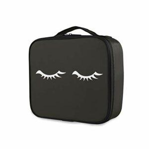 Mode Trousse De Toilette Abstrait Aile Cils Portable Outils Cosmétique Train Case Voyage Maquillage Sac De Rangement