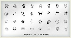 MoYou-London The Princess Pochoirs à ongles Collection 03