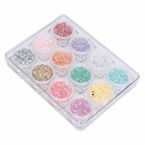 Nail Art paillettes Nail Art outil accessoire 12 couleurs léger pour la beauté pour la conception des ongles pour artiste d'art des ongles pour femmes filles