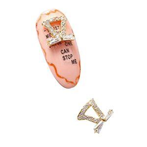 Nail art strass, gemmes bijoux décalcomanies décorations pierres précieuses en métal de forme irrégulière pour punition strass perceuse à ongles 2pcs