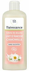 Natessance Hygiène Douche Crème Lait D'anesse Camomille sans Sulfates – Bio – 500 ml