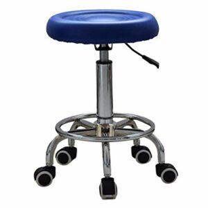 Non-brand Tabouret de Massage de BEAUTÉ de Salon RÉGLABLE Styling Coiffure MANUCURE de BARBIER – Bleu