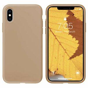 Oihxse Silicone TPU Gommage Case Compatible pour Huawei P10 Coque Ultra Fine Souple Protection Housse Mignon Couleurs Bumper Étui Anti-Rayures Cover(Thé au Lait)