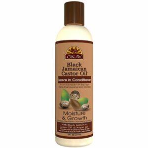 Okay OKAY | Huile de ricin noir de la Jamaïque Leave In Conditioner | Tous les types de cheveux/Textures | Réparation – Hydratez – grandir en bonne santé des cheveux 8 Oz