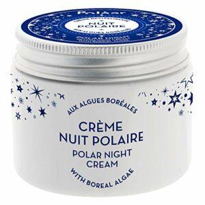 Polaar – Crème Revitalisante Nuit Polaire Aux Algues Boréales 50ml – Soin De Nuit visage hydratant, anti-âge, lissant, régénérant, détoxifiant – Tous types de peaux, même sensibles – Actif naturel
