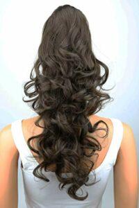 PRETTYSHOP 60 cm postiche extension de cheveux queue de cheval volumineux résistant à la chaleur Diverses couleurs H65