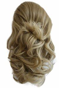 PRETTYSHOP Clip sur l'extension postiche Pièce de cheveux ondulé Look naturel fibres résistant à la chaleur 40cm blonde # 16T15 PH207