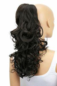PRETTYSHOP Postiche Queue de cheval, Extension de cheveux, 55 cm résistant à la chaleur, de couleurs différentes