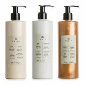 Prija Ensemble de bien-être, lotion + crème pour le corps, crème pour le bain