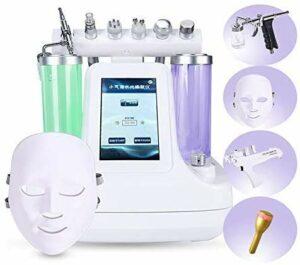 RJJBYY Instrument de Beauté 9 en 1 Machine à Oxygène de l'Eau, Soins de la Peau Pulvérisateur d'injection de Radiofréquence Jet d'eau Micro Massage Outil de Beauté Équipement de Salon de Beauté