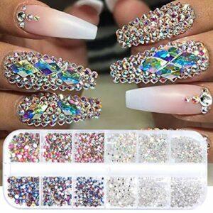SAMENTHA Décoration d'ongles à strass brillants – 12 grilles 3D – Pour femme – Accessoires pour ongles #3