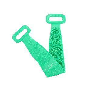 SCAYK Brosses de Silicone Serviettes de Bain Brosse Brosse Brosse Courroie exfoliant Brosse Brosse Ceinture Lavage cutané ménage Nettoyer Douche pinceaux csv (Color : Green 70cm)