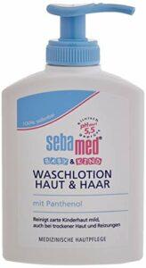 Sebamed Baby Lot de 3 lotions nettoyantes pour la peau et les cheveux 3 x 200 ml