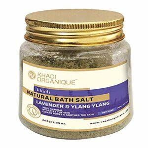 Sel de bain Glamorous Hub Khadi Organique Lavender & Ylang 200 G (L'emballage peut varier)
