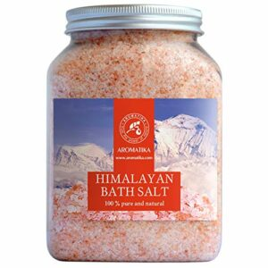 Sel Rose de Himalaya 1300g – 100% Pure & Naturel – Sel Naturel – Sel Himalayen pour Bon Sommeil – Anti Stress – Sel de Bain – Beauté – Aromathérapie – Spa