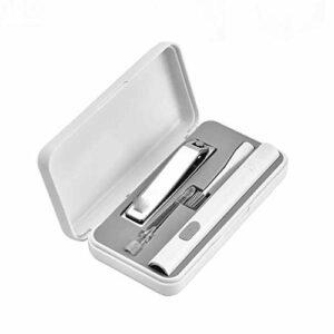 SHYPT Kit de Soin des Ongles d'oreille USB Portable LED Kit d'outils de Retrait de nettoyant pour Cire de Brosse à Ongles avec lumière LED