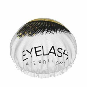 style02 bonnet de douche double couches, maquillage d'extension de cils dans le cosmétique moderne de sourcil de beauté d'oeil, réutilisable