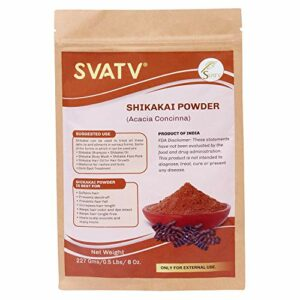 SVATV :: Poudre de Shikakai/Acacia Concinna (227g) – Shampooing sans savon au shampooing sans SLS PPD purifiant naturel pour la croissance des cheveux