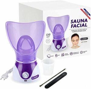 Tillmann's Sauna Facial – Bain de visage – Fumigation – Offert : deux extracteurs de points noirs dans un étui !!! – Notice en Francais