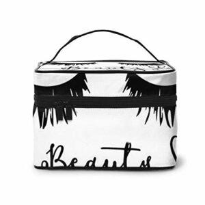 Trousse de Maquillage de Cils de Sommeil de beauté, Grand Sac cosmétique Trousse de Maquillage Organisateur de Trousse de Toilette/Sac de Voyage pour Les Femmes