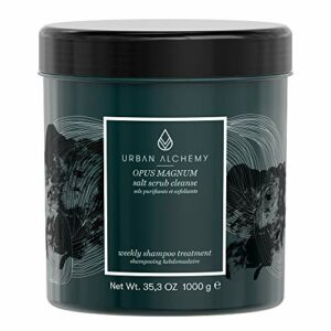 Urban Alchemy Salt Scrub – Exfoliant Purifiant Nettoyant aux Sels Marins Opus Magnum 1L – Hydratant et doux pour cheveux normaux