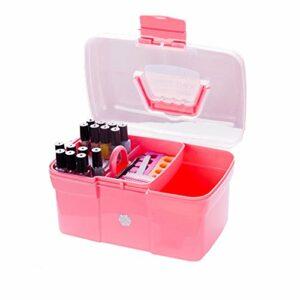 Uzinb Main Tenue de Bureau Boîte de Rangement en Plastique Ciseaux de Maquillage Organisateur Bijoux Nail Pen manucure Polonaise Container Outil Case