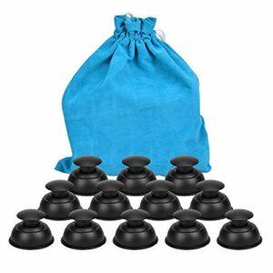 Ventouses Anti Cellulite, Hydream 12pcs Silicone Massage Cups Soins du Corps Ventouse Thérapie Chinois Cupping pour Anti-âge Réducteur de Rides, Soulagement de la Douleur, Relaxation Musculaire-Noir