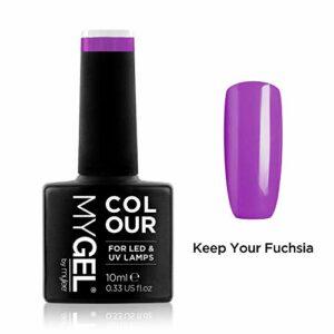 Vernis à ongles MyGel, de MYLEE (10ml) MG0030 – Keep Your Fuchsia Manucure UV/LED Nail Art Pédicure pour un usage professionnel dans le salon et à la maison – Durable et facile à appliquer