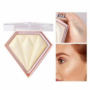 YO-HAPPY Surligneur pour Le Visage, Highlight Powder Maquillage du Visage Glitter Palette Glow Face Contour Cosmetics