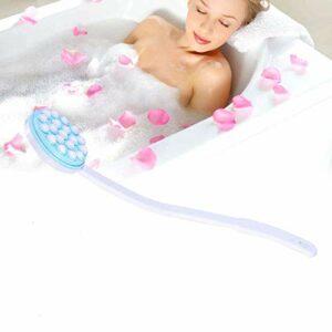 Yuyanshop Applicateur de lotion pour le dos, applicateur de lotion pour le dos, masseur de bain à long manche, facile à atteindre, applicateur de lotion pour le corps, les jambes, les pieds